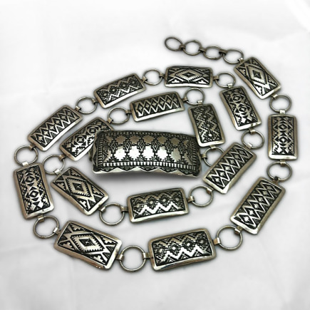 Sterling Silver Sampler Concho Belt