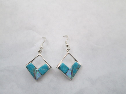 Multu-Stone Inlay Earrings
