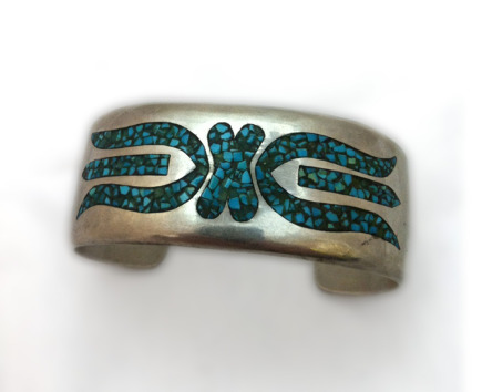 Turquoise Chip Inlay Bracelet